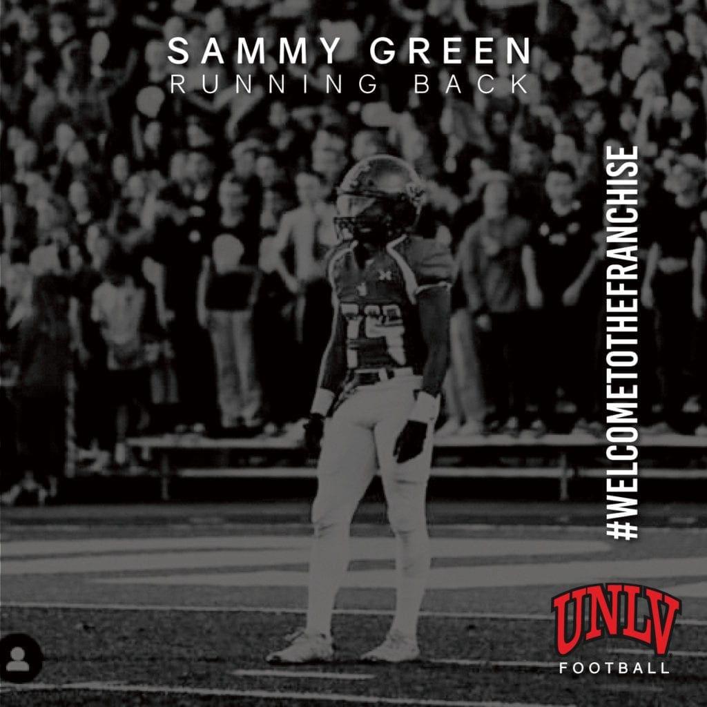 UNLV Football Recruiting - Sammy Green