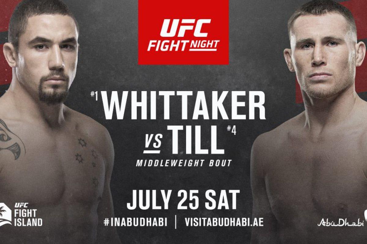 UFC Fight Night Whittaker vs Till UFC Fight Island 3