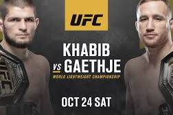 New Match Preview: UFC 254 - Khabib vs Gaethje -10/24/2020