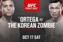 New Match Preview: UFC Fight Night: Ortega vs The Korean Zombie - 10/17/2020