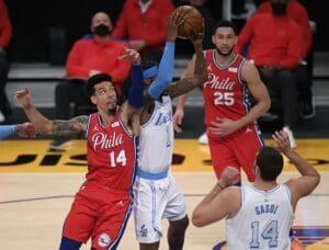 Lakers vs 76ers